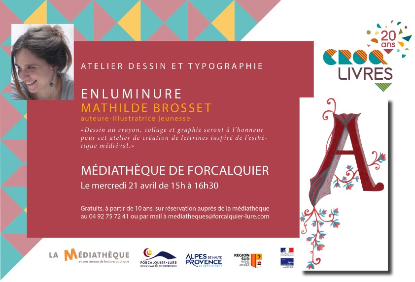 "Atelier Dessin et Typographie ""Enluminure"" Mathilde Brosset |"